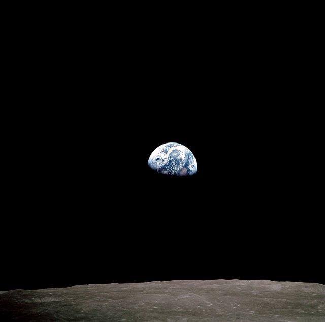 primera fotografia de la Tierra, el dia de navidad de 1968