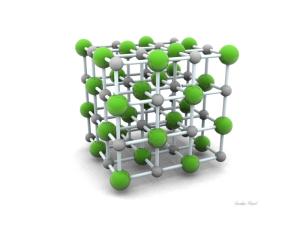 estructura cristalina de la sal