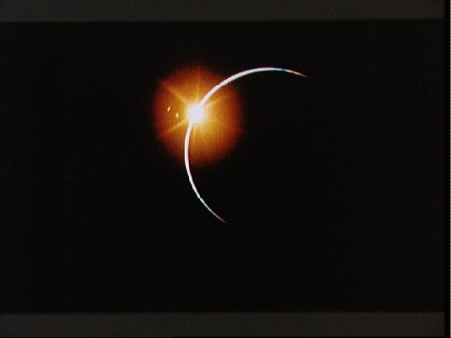 eclipse solar tomado por el Apollo 12