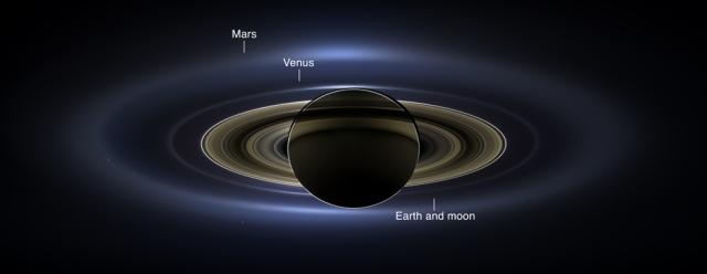 La Tierra vista desde Saturno