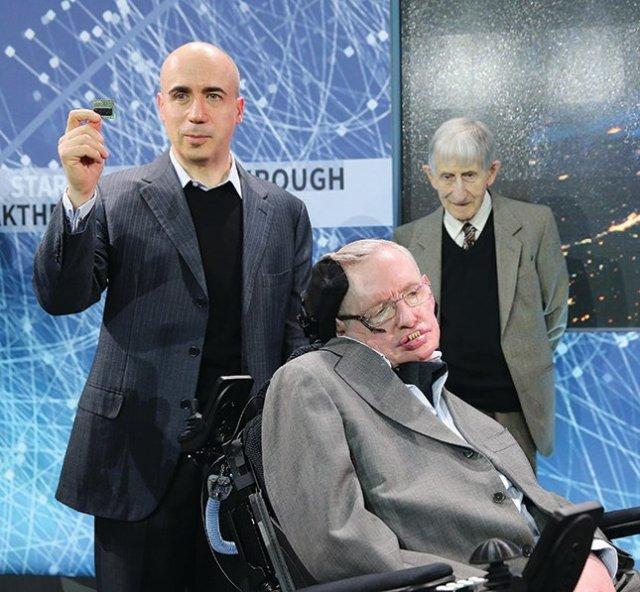 Yuri Milner-Stephen Hawking-Freeman Dyson